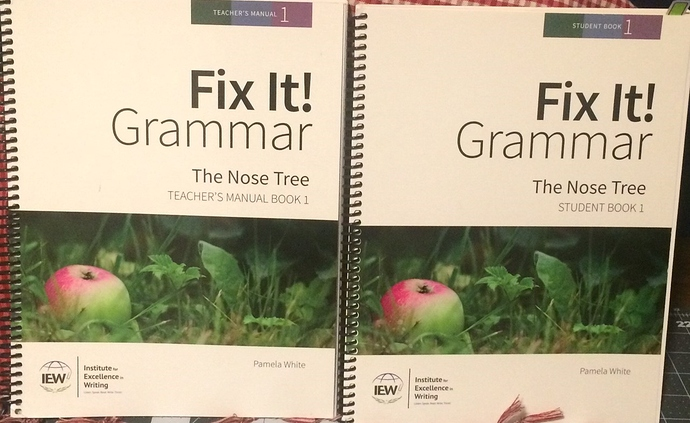 Fix It Grammar - The Nose Tree - Instruction & Student Workbook